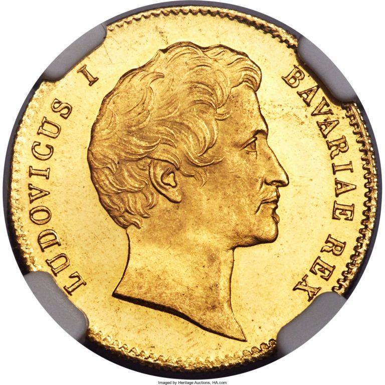 1842年1846年ルートヴィヒ1世都市景観ダカット金貨の価値と買取相場