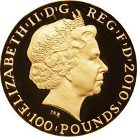 2010年ロンドンオリンピック記念エリザベス100ポンド金貨