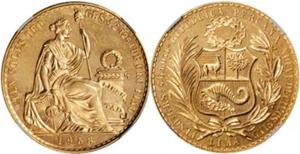 ペルー100ソル金貨の価値と買取相場