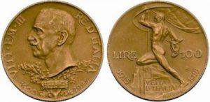 ヴィットリオ・エマヌエレ3世100リレ金貨