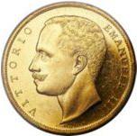 1903年・1905年ヴィットリオ・エマヌエーレ3世100リレ金貨の価値と買取価格