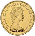 エリザベス2世ヤングヘッド5ポンド金貨の価値と買取相場