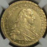 イタリア ナポリ シチリア フェルディナンド1世 6ドゥカティ金貨 Naples & Sicily NGC AU55