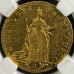 ハンガリー マリア・テレジア 2ダカット金貨 コイン 硬貨 NGC AU58