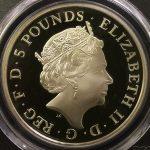 英国 イギリス エリザベス2世 シャーロット王女生誕記念 5ポンド銀貨 PCGS PR68DCAM