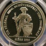スイス 現代射撃祭 ビエール ビーレ 50フラン銀貨 2000年 コイン PCGS PR69DCAM プルーフディープカメオ