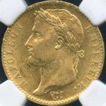 フランス 百日天下 100日天下 1815年 ナポレオンI世 20フラン金貨 コイン NGC MS62 未使用