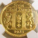 ドイツ ダンチヒ ダンツィヒ 25グルデン グルテン 金貨 1923年 NGC PF65 CAMEO プルーフカメオ