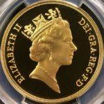 英国 イギリス エリザベス 5ポンド金貨 1985年 PCGS PR69DCAM プルーフ ディープカメオ