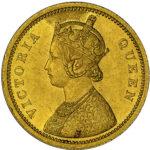 東インド会社 英国 インド ヴィクトリア ビクトリア モハール ムハール 金貨 1862年 NGC MS62