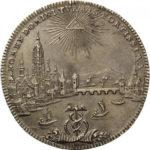 ドイツ 1772年 フランクフルト 都市景観 ターラー銀貨 ターレル 準未使用 未鑑定