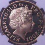 イギリス ビクトリア女王 没後100年 追悼記念 5ポンド金貨 エリザベス 2001年 NGC PF69 ULTRA CAMEO プルーフ