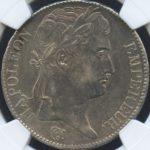 フランス 百日天下 100日天下 1815年 ナポレオンI世 5フラン銀貨 コイン NGC AU55 準未使用