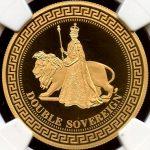 英国 2012年 TDC トリスタンダクーニャ ウナとライオン NGC PF69 ULTRA CAMEO プルーフ 2ソブリン金貨
