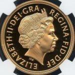 英国 イギリス エリザベス 5ポンド金貨 2006年 NGC PF70 ULTRA CAMEO プルーフ 最高グレード