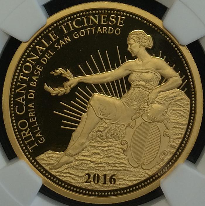 ティチーノ射撃祭ゴッタルドトンネル開通記念500フラン金貨の価値と買取相場