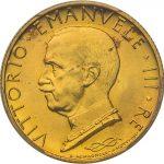 イタリア 1933年 船首上の女神 100リラ金貨 リレ ヴィットリオ エマヌエレ3世 コイン PCGS MS66 完全未使用