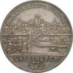 ドイツ レーゲンスブルク ターラー銀貨 1756年 都市景観 ターレル コイン PCGS AU55