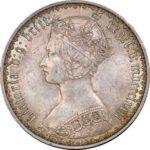 イギリス ビクトリア ゴチック フローリン銀貨 1872年 ヴィクトリア コイン PCGS MS63