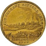 ドイツ プファルツ 都市景観 カール·テオドール ダカット金貨 1767年 NGC MS61 未使用